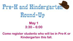 Pre-K and Kinder Roundup