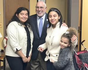 NYS Assembly Member Michael Benedetto with the students