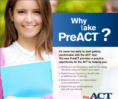PreACT - sign up for 10th grade students Thumbnail Image