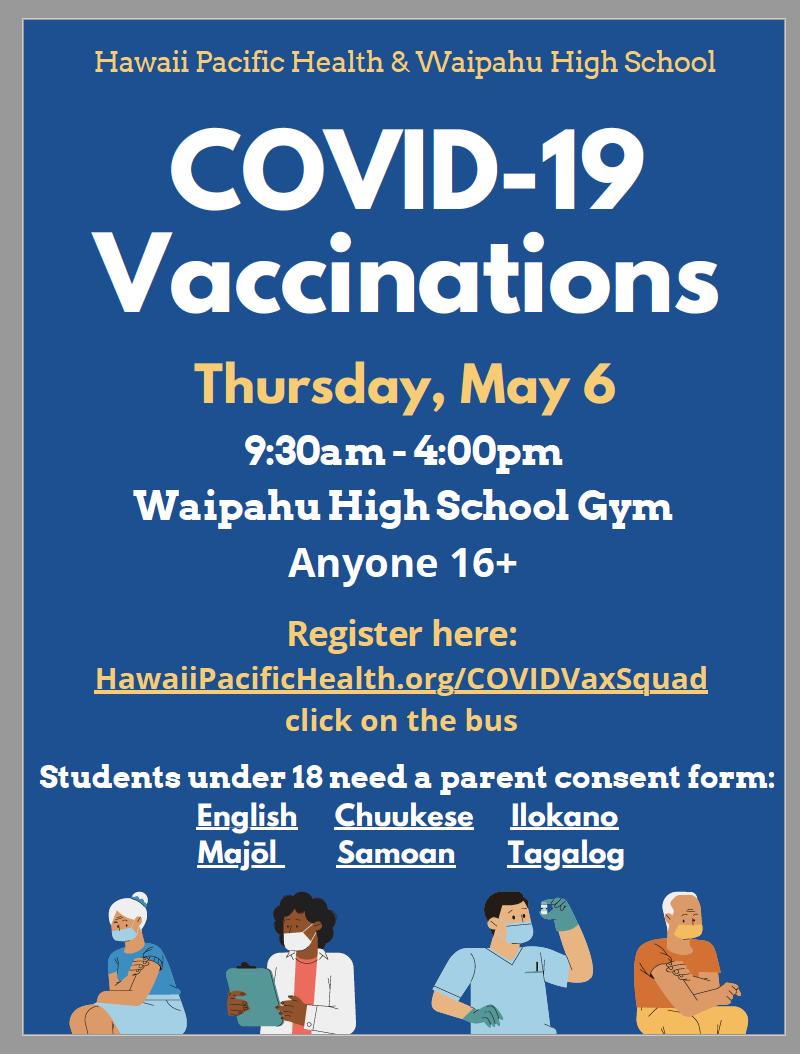 COVID-19 vaccination flyer