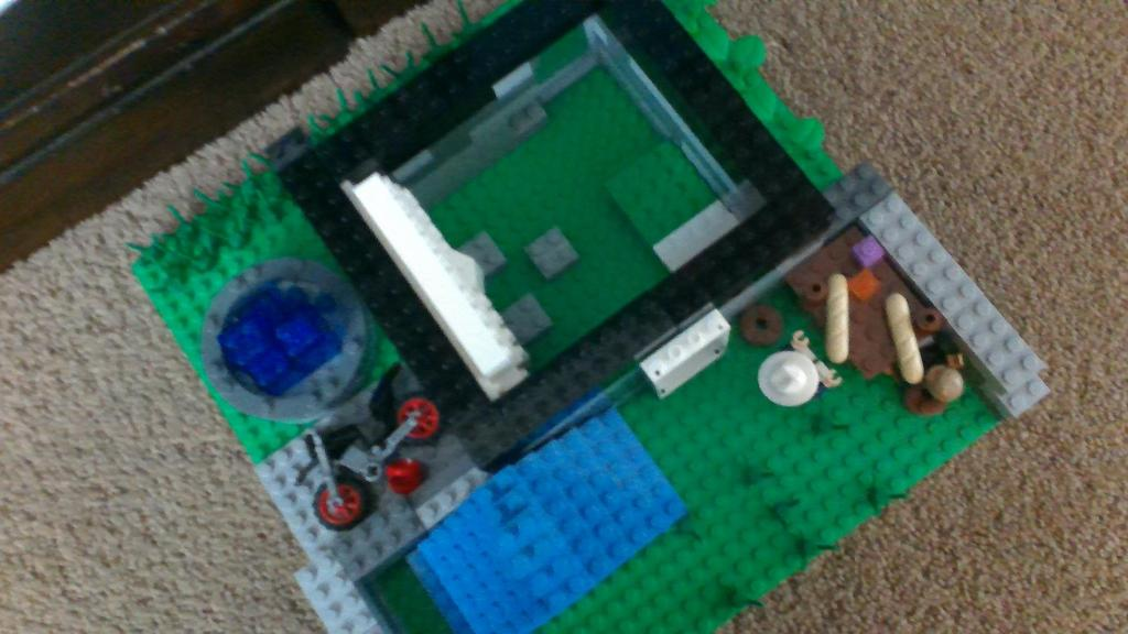 lego house from aerial view