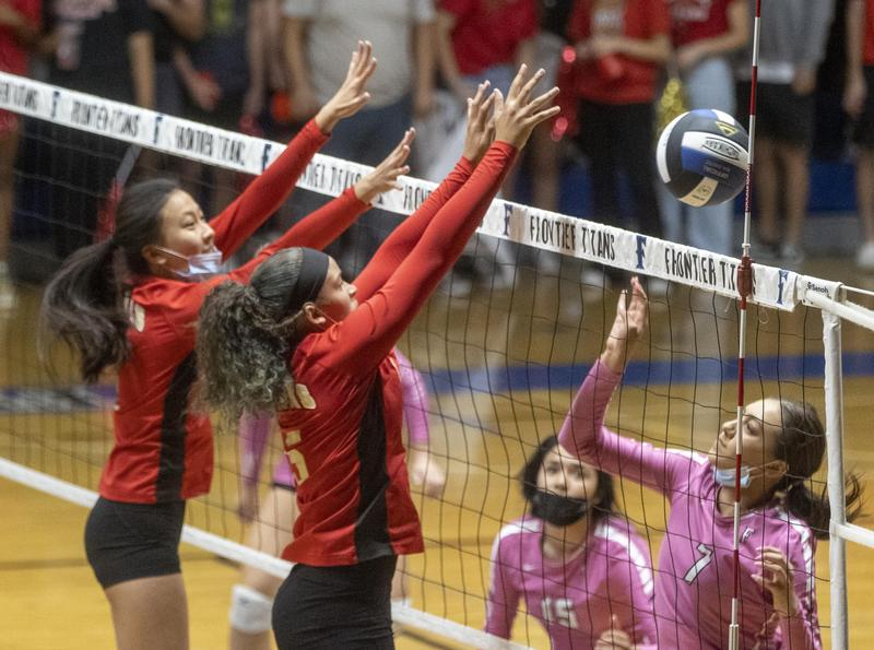 Centennial volleyball team closes out first half of SWYL schedule with sweep of Frontier Thumbnail Image