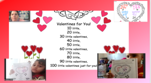 Valentine's day chant with zoom screenshots