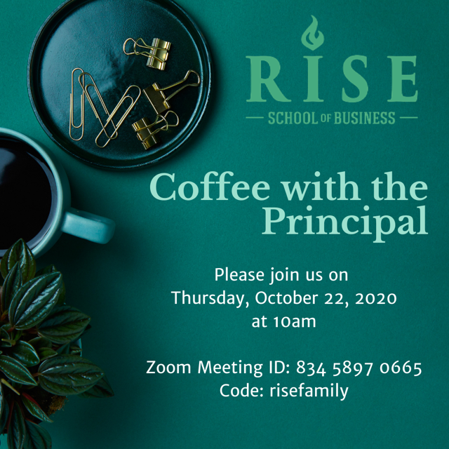 RISE Coffee with the Principal Featured Photo
