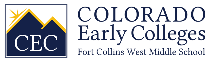 CEC Fort Collins West Middle School Logo