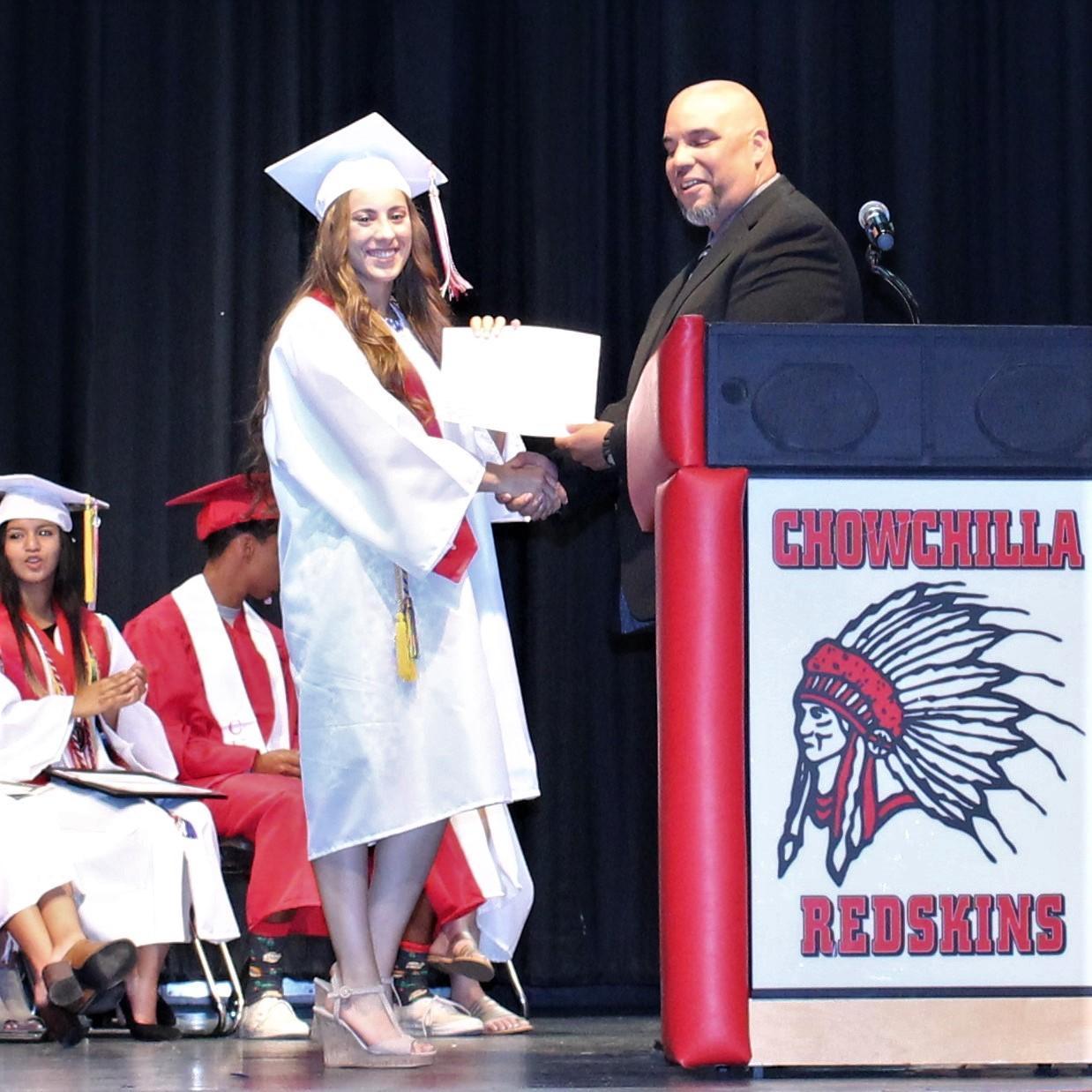 Hannah Mancebo, CUHS Assistant Principal Chris Rodriguez
