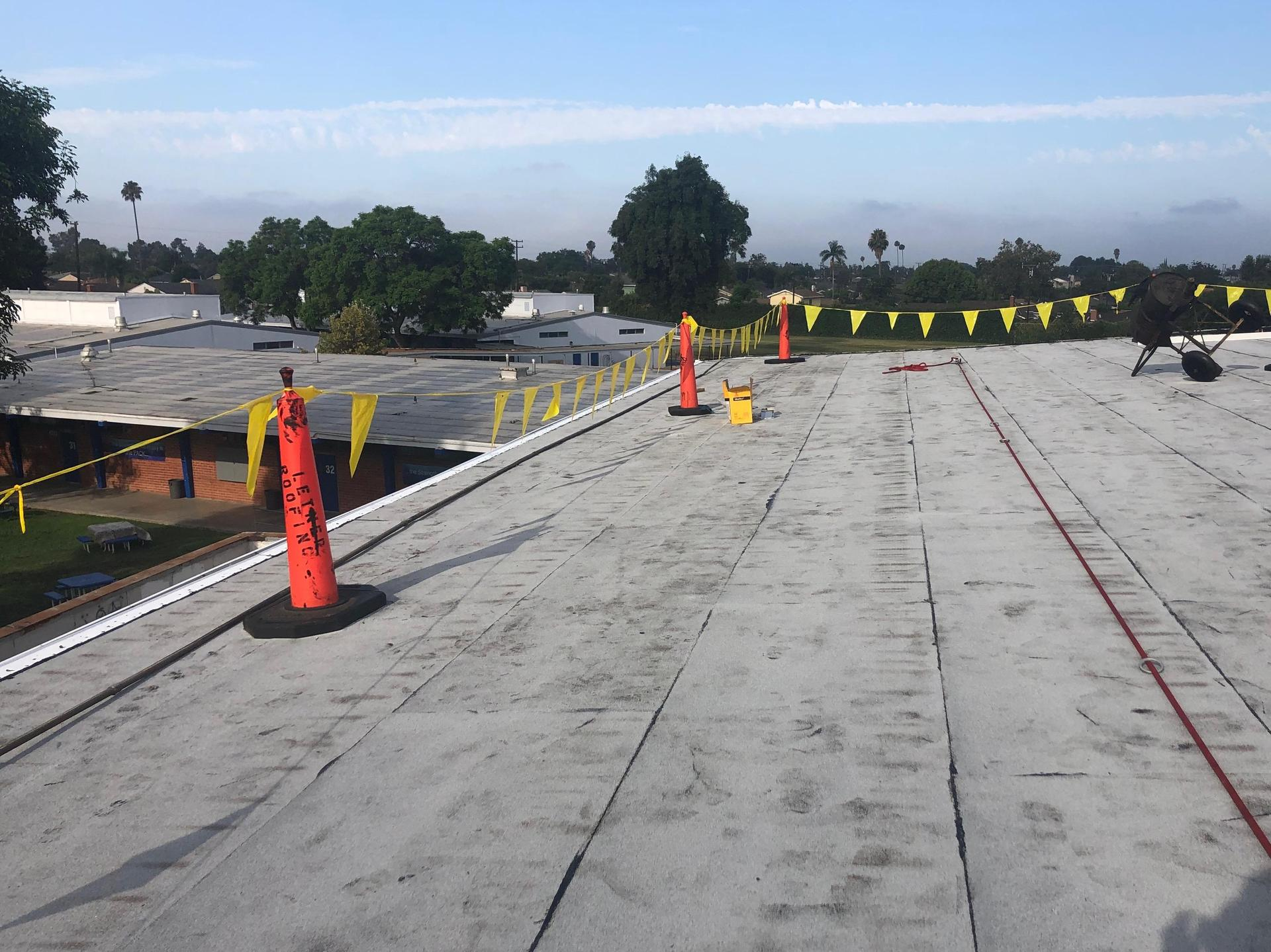 Gym roofing installation