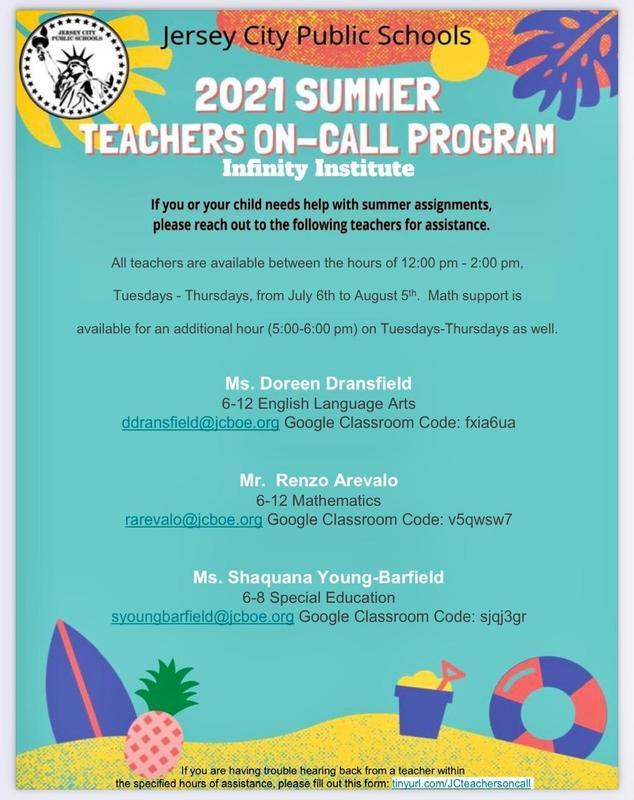 Summer 2021 Teachers On Call Program Featured Photo