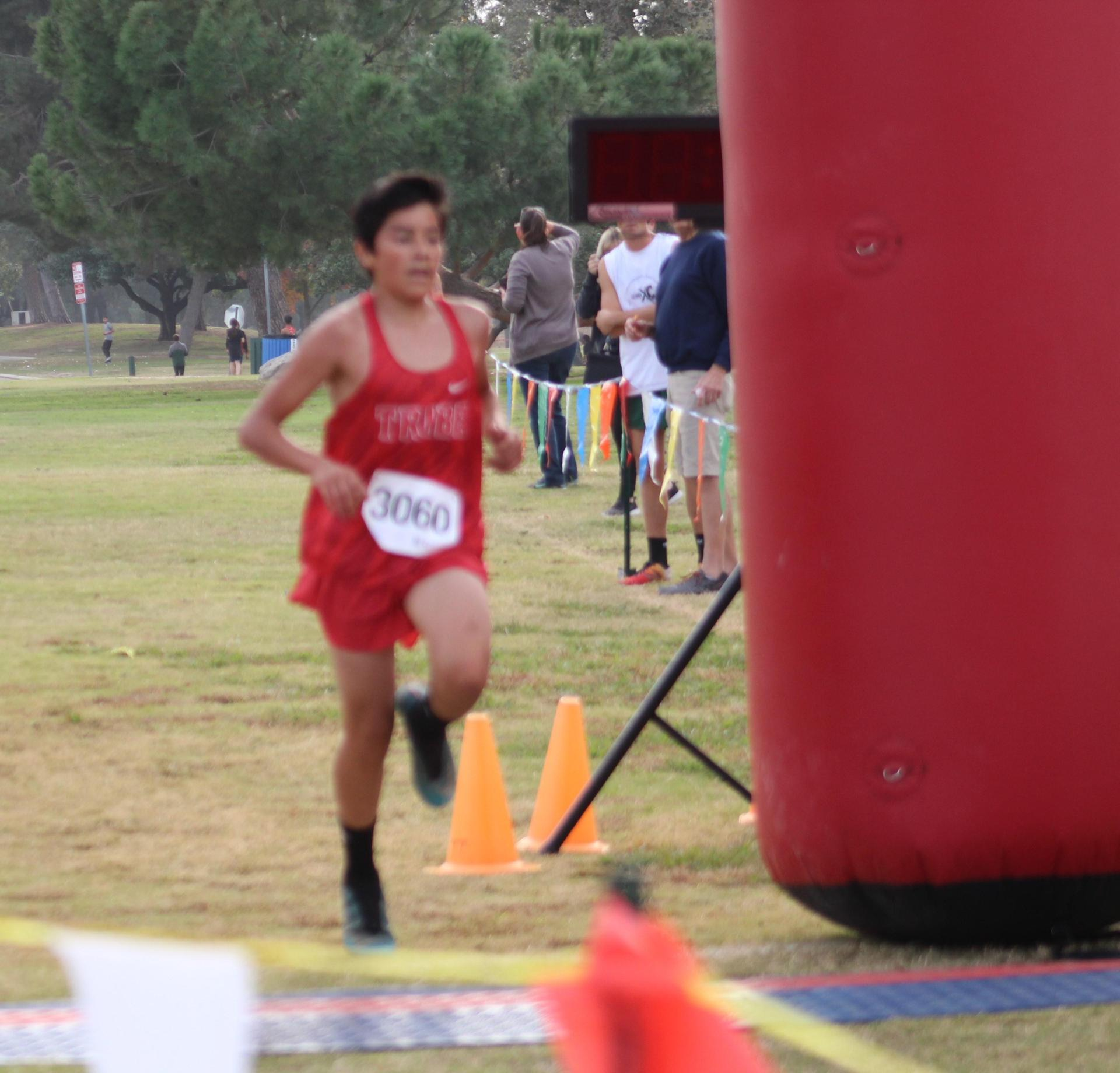 Isaac Rivera finishing first