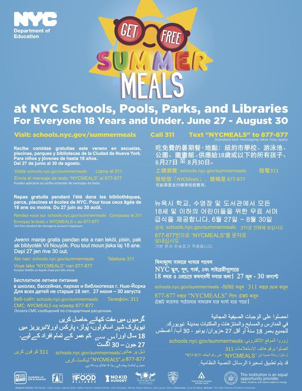 Free Summer Meals @ Maspeth High School Featured Photo