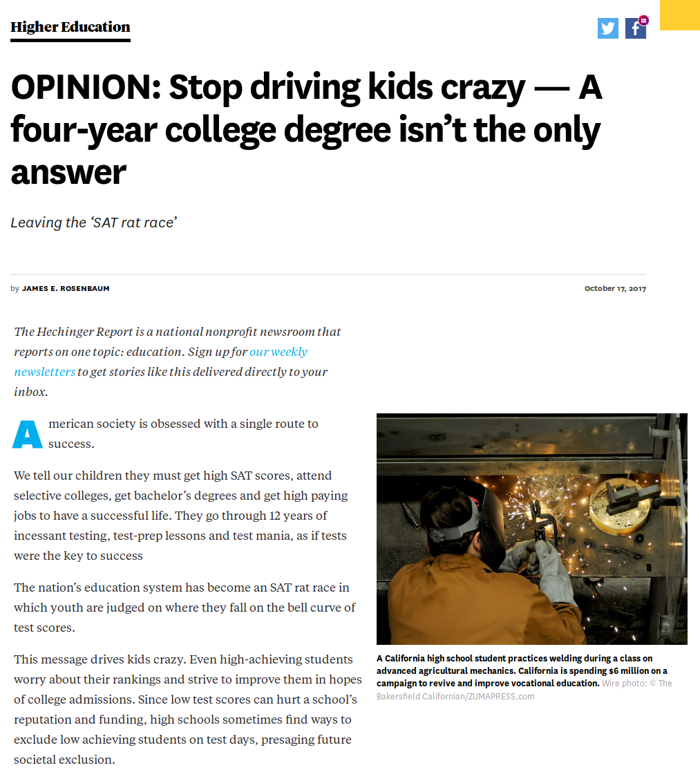 OPINION: Stop driving kids crazy — A four-year college degree isn't the only answer