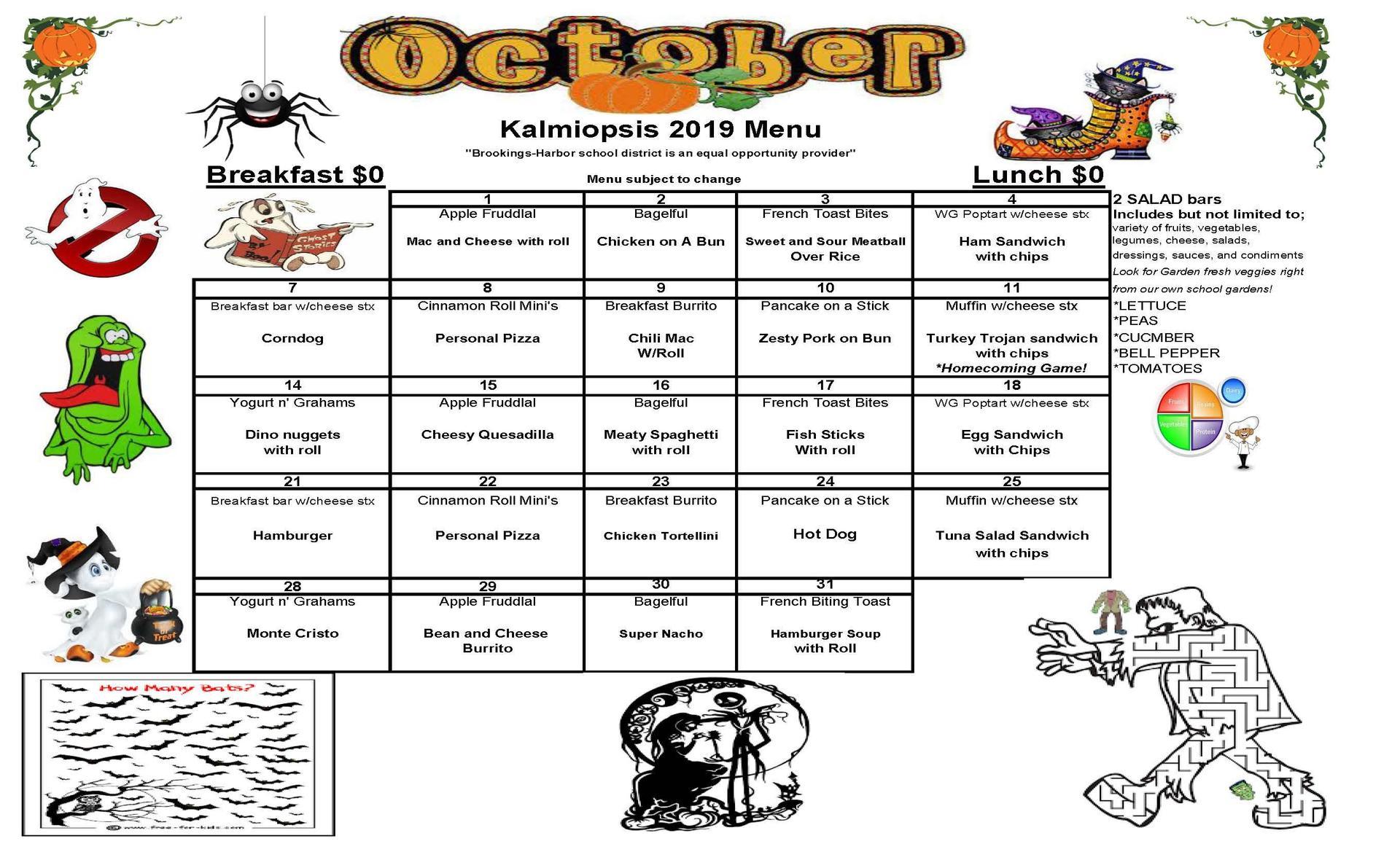 oct menu