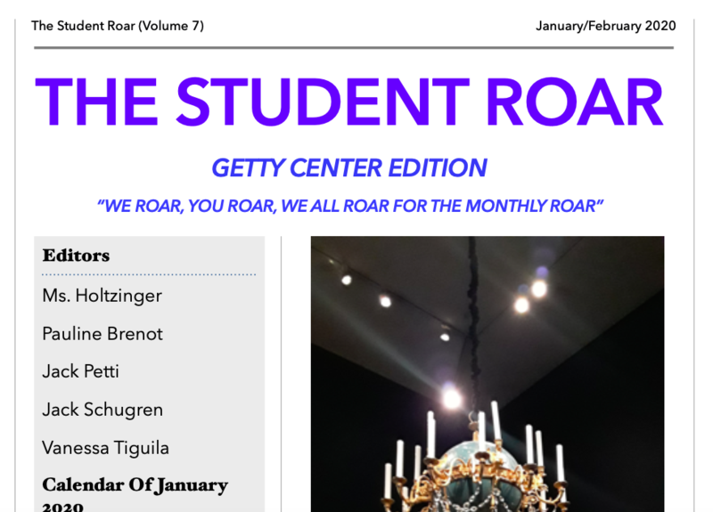 The Student Roar January 2020 Edition Featured Photo