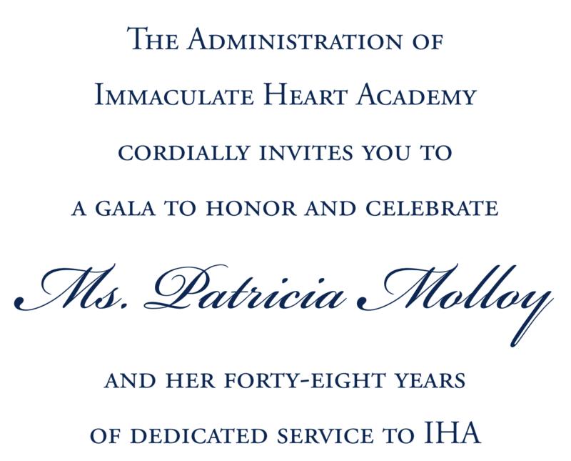 Gala to Honor Patricia Molloy - POSTPONED Thumbnail Image