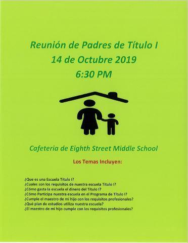 Spanish version of Title One Parent Meeting 2019.JPG