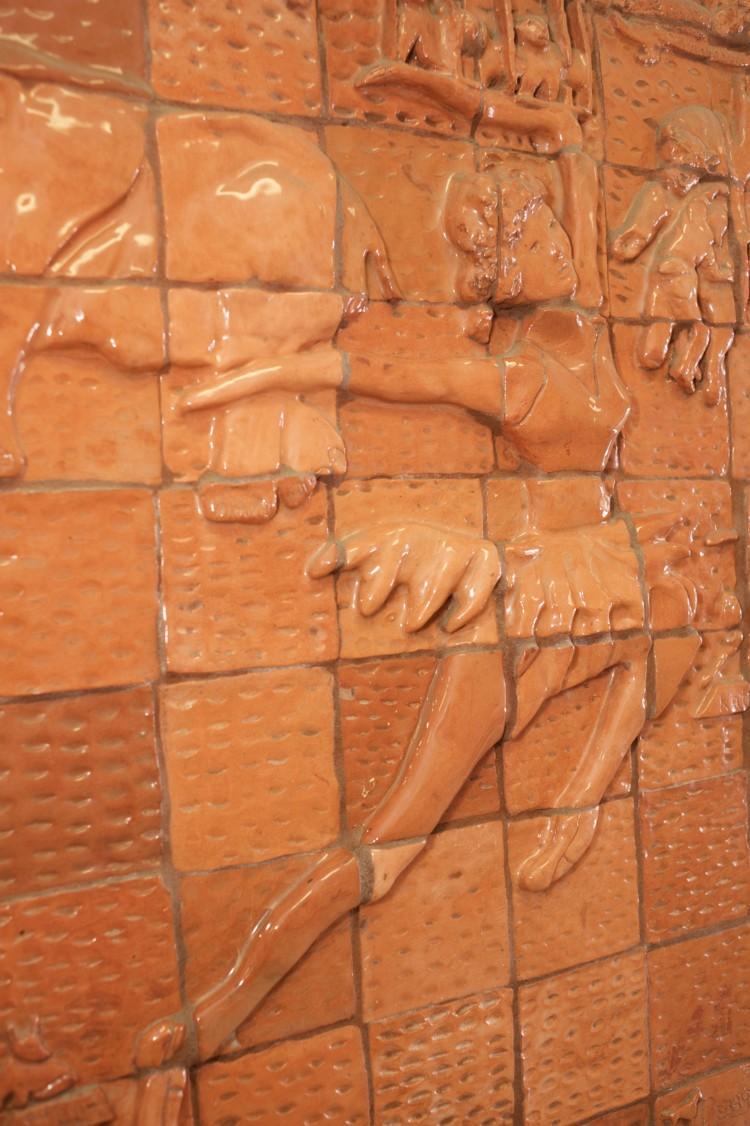 Tile artwork of a ballerina