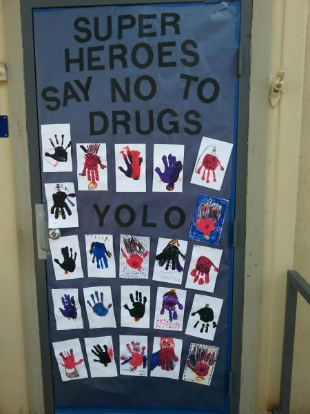 Super Heroes say no to drugs