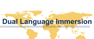 graphic of map and Dual Language Immersion wording