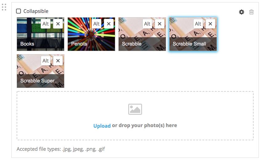 screenshot of images in a Photo Shuffle
