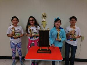 Ayda Balci, Rachael Teixeira, Alyssa Leija (Captain), and Jake Tijerina Perez's Battle of the Bluebonnet Team