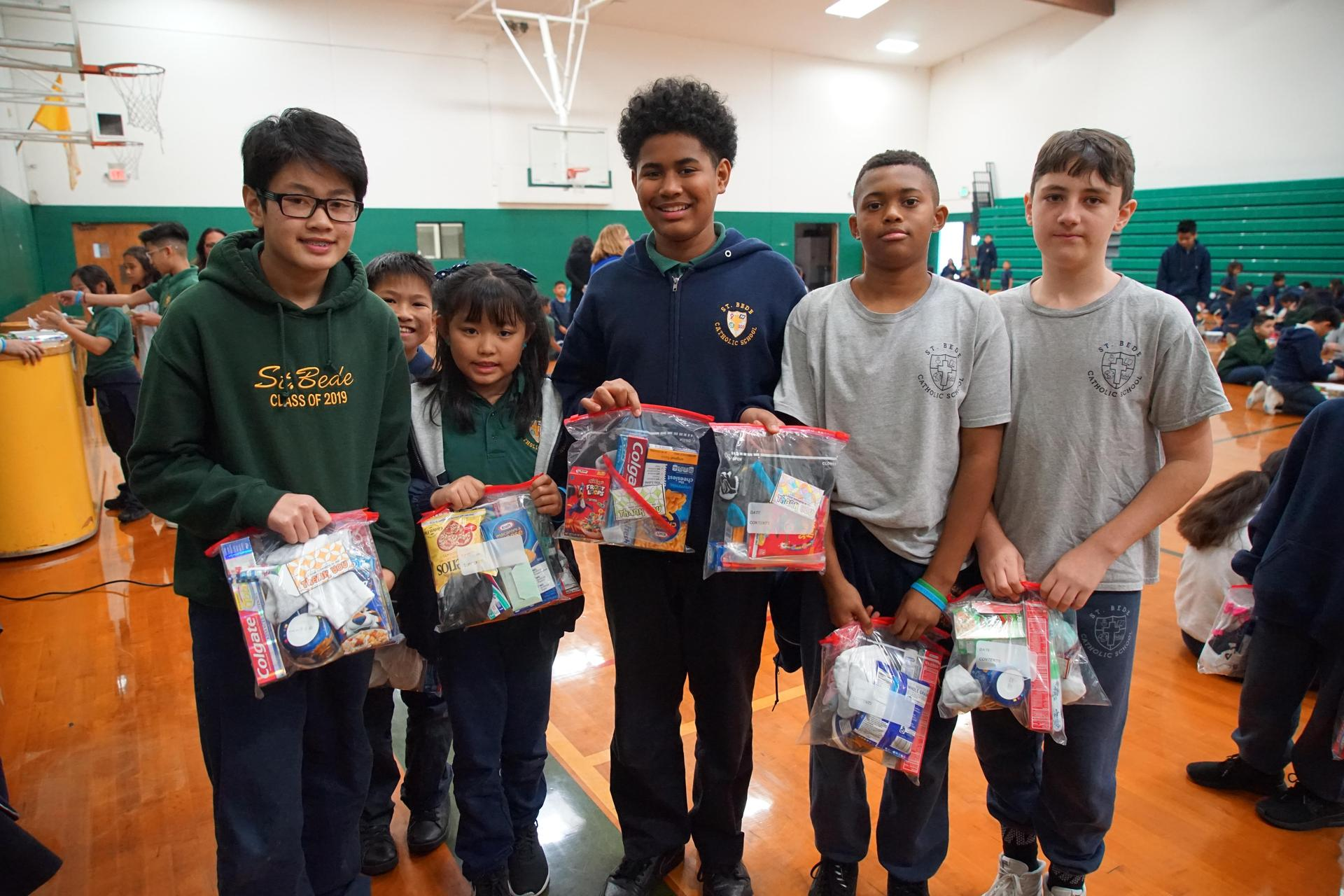 School-wide service learning project for the Society of St. Vincent de Paul