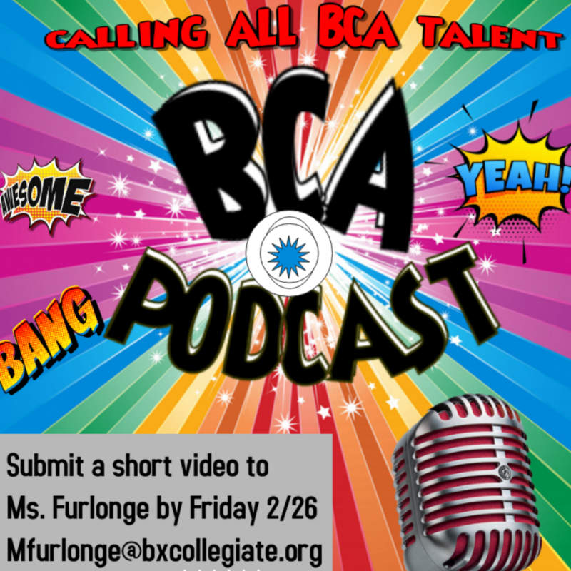 BCA Podcast Auditions! Featured Photo