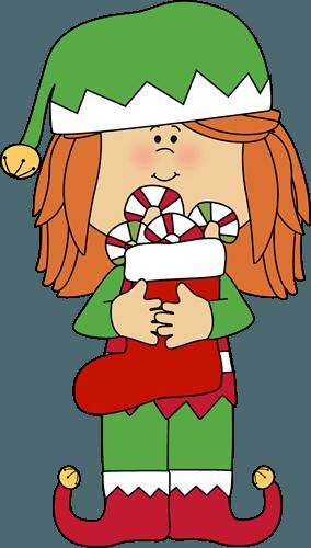 Image of Christmas elf girl
