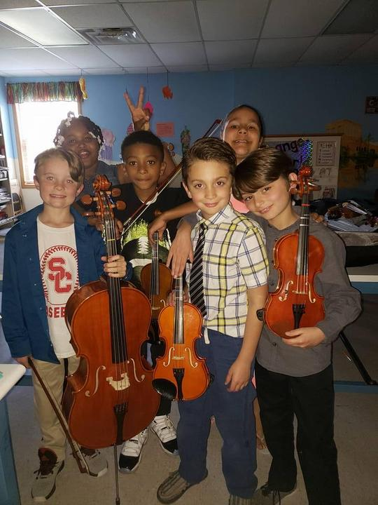3rd Grade Strings Students
