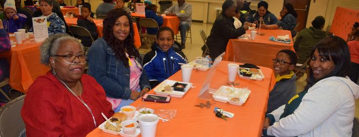 Otken Elementary Thanksgiving with parents