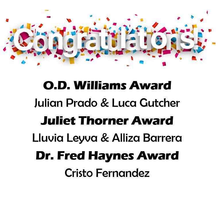 6th Grade Award Winners Featured Photo