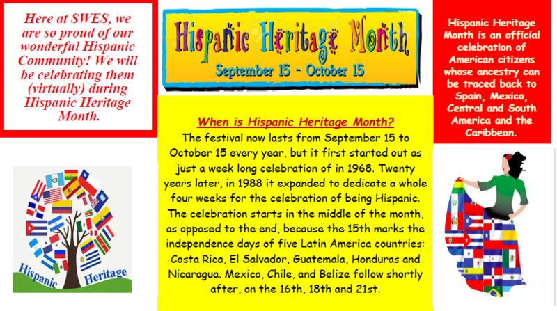 Hispanic Heritage Month at SWES! Thumbnail Image