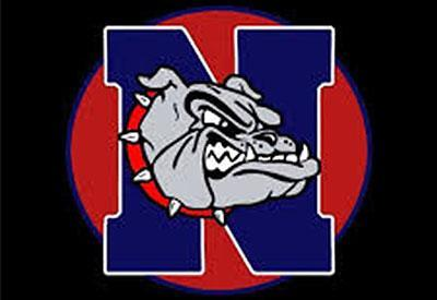 Nampa High School Bulldog logo on black background