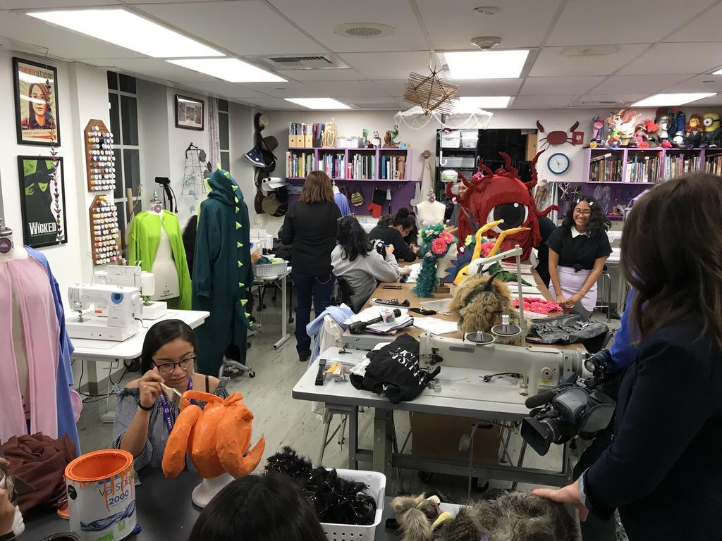 LAHSA Costume Shop Telemundo Visit