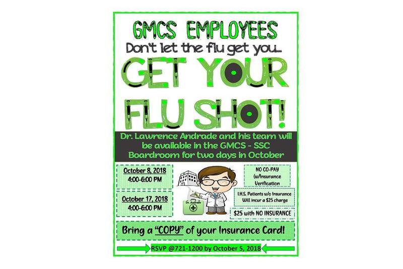 Flu Shots For GMCS employees