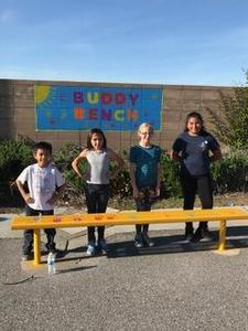 buddy bench at ramblewood elementary
