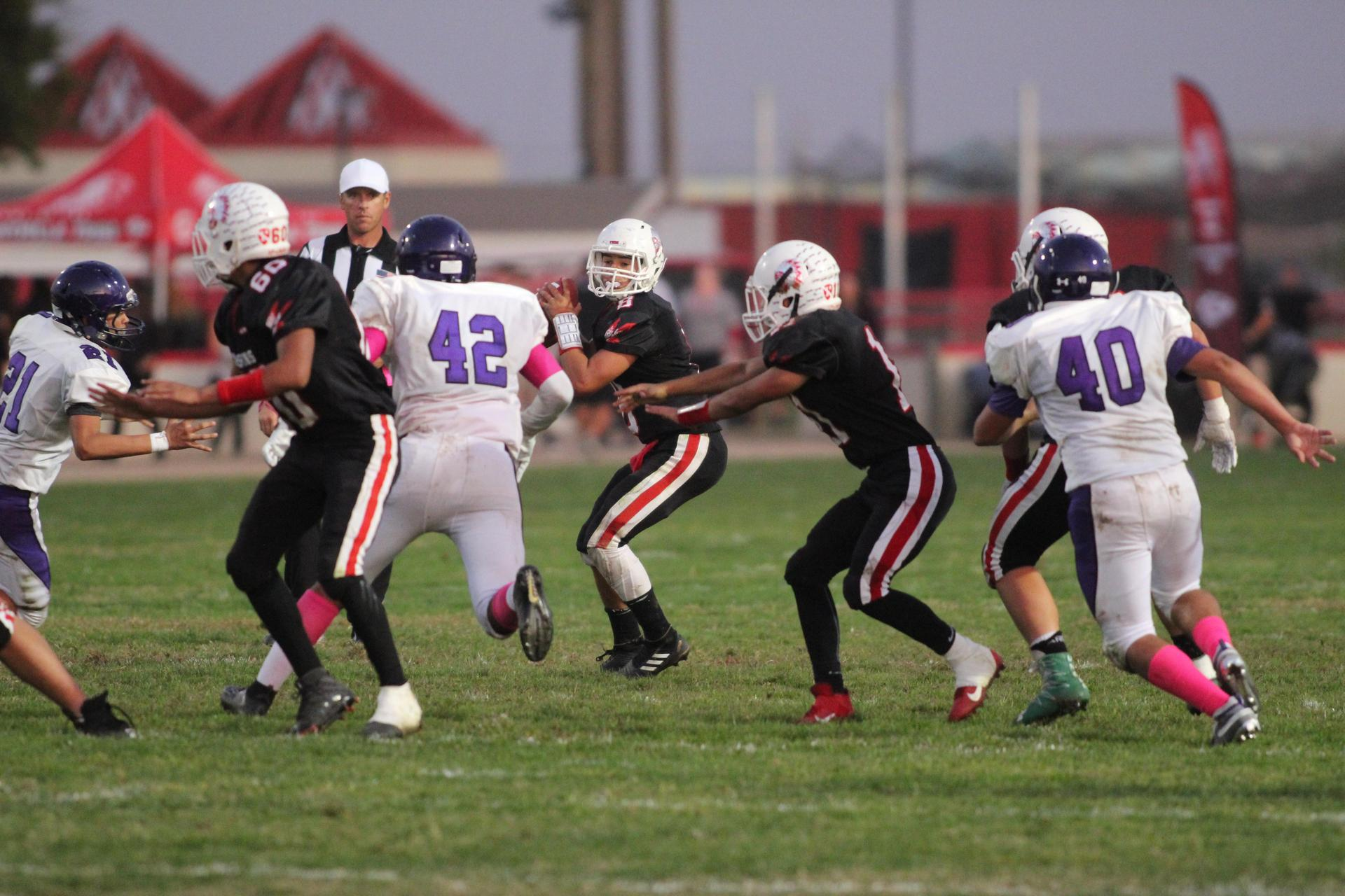 Junior varsity playing football against Washington union