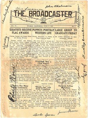 Garvey School's Early Publication, 'The Broadcaster' Newsletter (June 17, 1932)