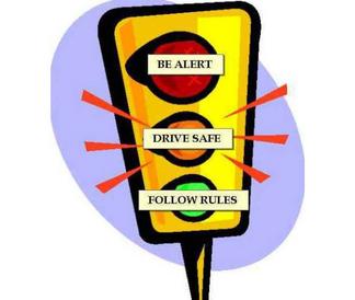 Traffic light warning