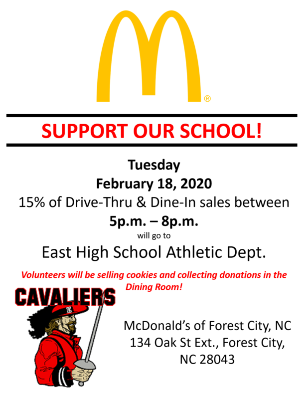 McTeacher Night - Support your Cavaliers!