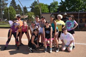 Last softball practice - dress up time!