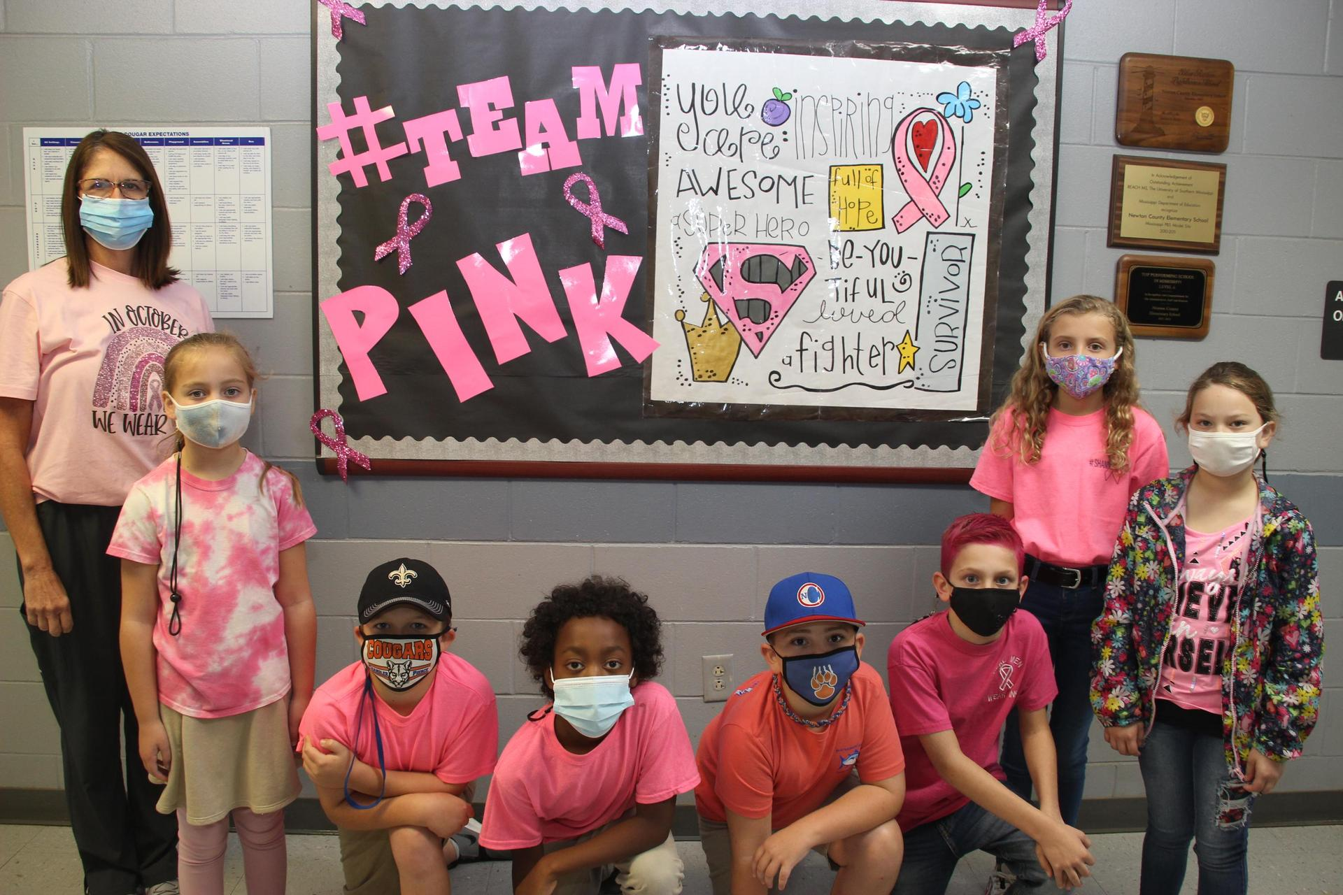 Students Support Breast Cancer Awareness