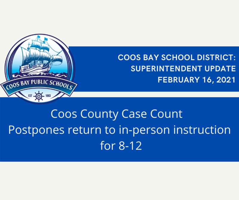 Return to in-person instruction for 8-12 postponed