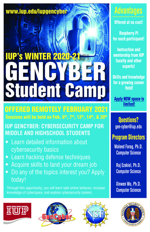 IUP Cyber Camp Flyer