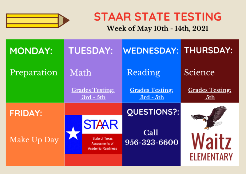 STAAR State Testing Dates - May 11-14, 2021 Featured Photo