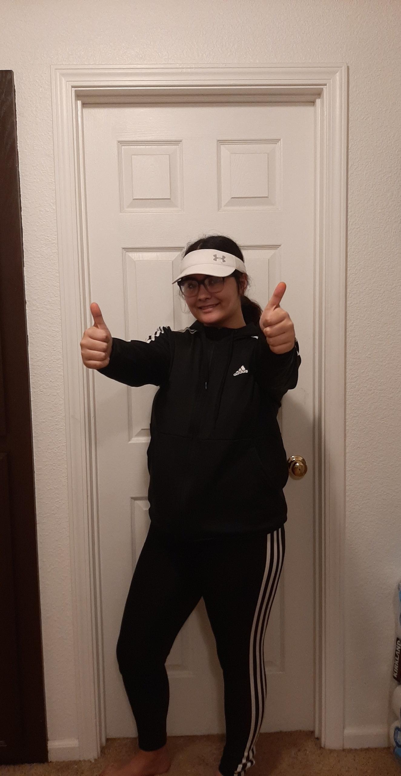 students wearing workout gear during spirit week