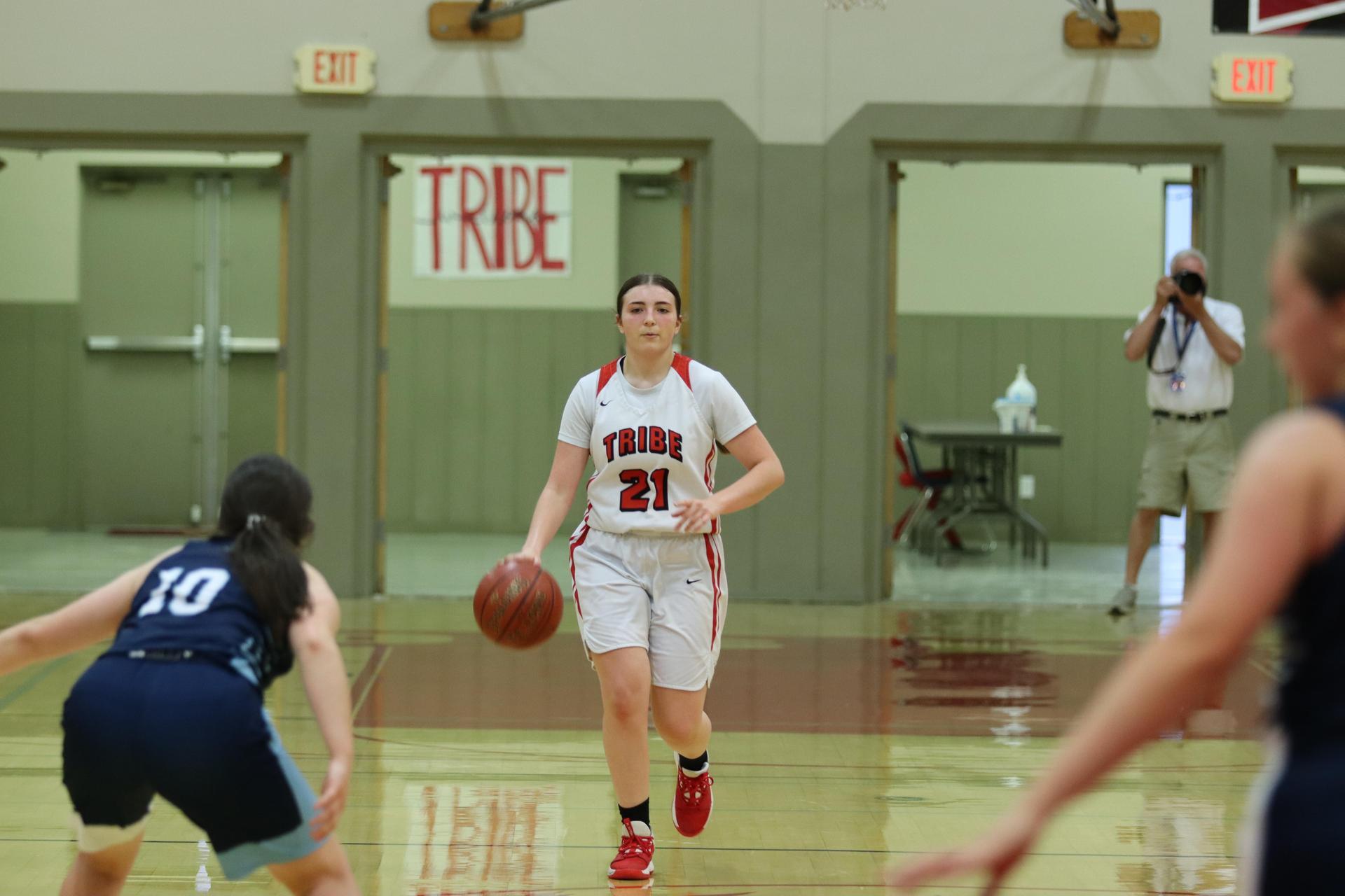 Girl's Basketball playing against Yosemite