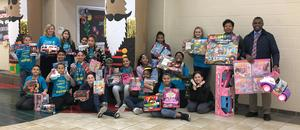The WOS Elementary Student Council collected toys for the Salvation Army.