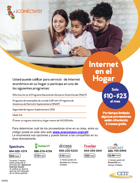 internet flyer spanish