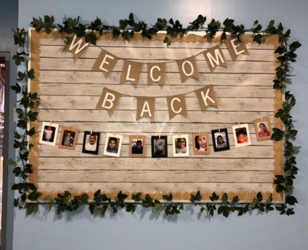'Welcome back' Bulletin Board