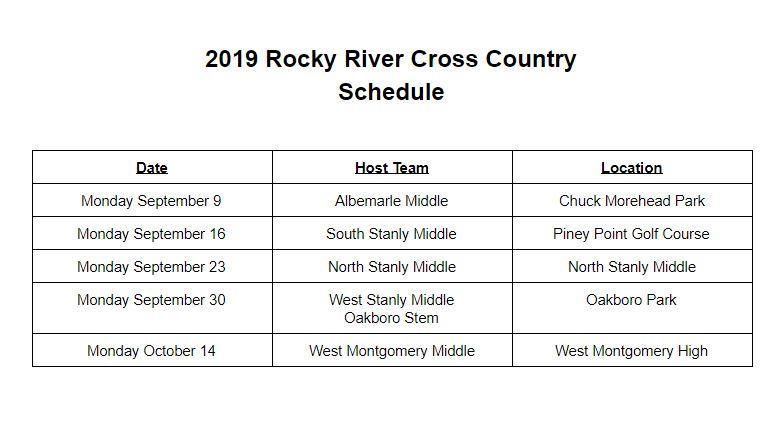SSMS Cross Country Schedule - 2019 Featured Photo
